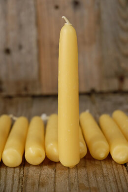 "Hand Dipped Beeswax 5"" Tapers"