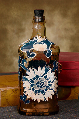 Hand Painted Bottle Medium