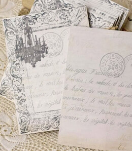 Handmade Chandelier Wedding Cards 12pc