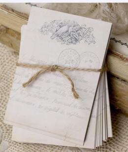 Handmade Wedding Bird Cards (24 cards)