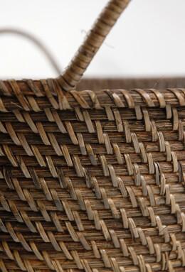 Hand Woven Bali Rattan Baskets 20 inch Round