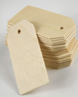 Unfinished Wood Hang Tags 3.25"