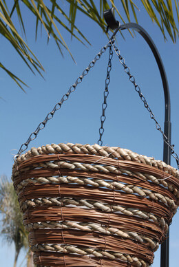 Fern & Rope Cone Hanging Baskets