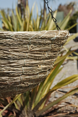 Sea Grass Hanging Basket, 14-Inch