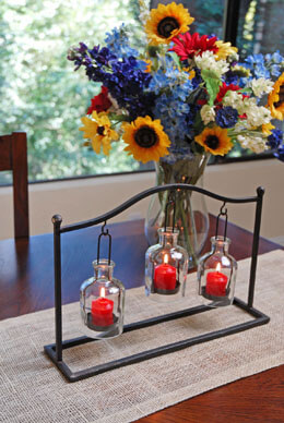 "Hanging Bottle Votive Holder 16"" x 10.5"""