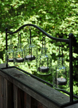 Hanging Bottle Votive Holder 24