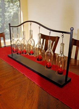 "Hanging Bottle Votive Holder  37"" x 19"""