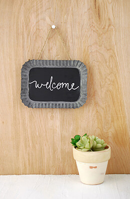 Hanging Chalkboard 7x5in