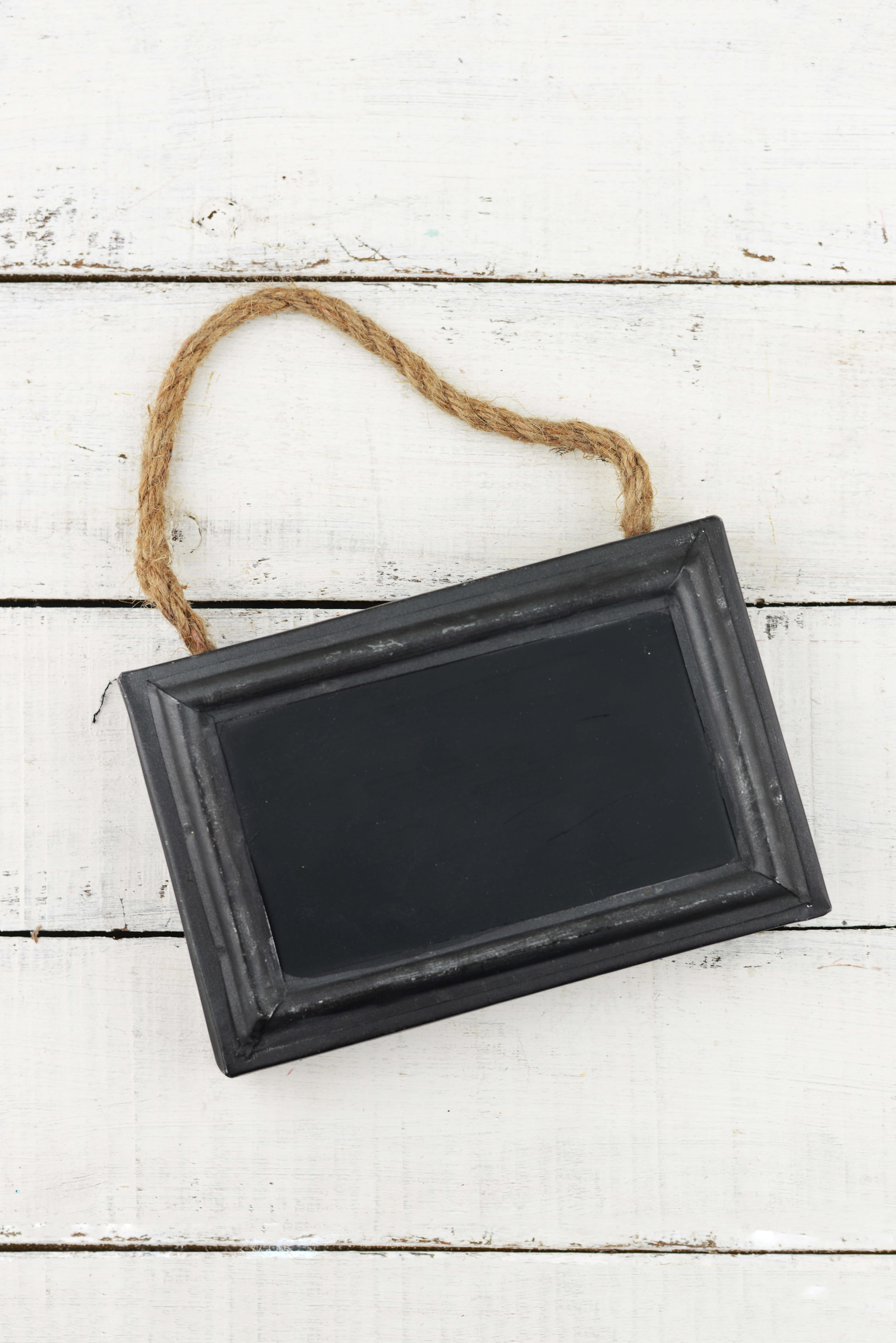 framed 5x7 chalkboard with rope for hanging