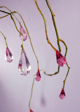Hanging Crystal Branches Pink 5 foot
