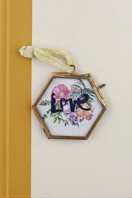 Hanging Double Glass Picture Frame 2.5in