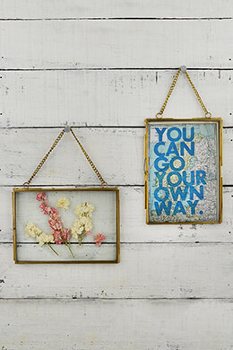 Hanging Double Glass Picture Frame 5x7in (Set of 2)