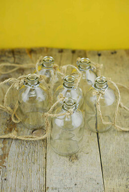 Hanging Glass Bottle 3.75in (Pack of 6)