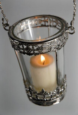 Hanging Votive Holders with Glass Inserts