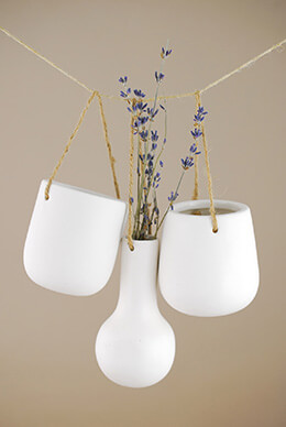 Hanging Porcelain Vases (Set of 6)