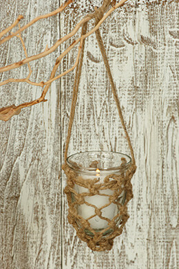 Hanging Votive Holder Jute Net