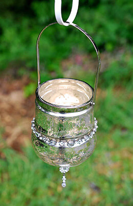 Hanging Votive Holder Mercury Glass