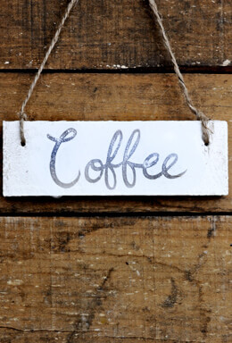 Hanging Wood Sign Coffee
