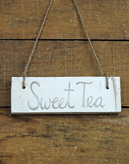 Hanging Wood Sign Sweet Tea