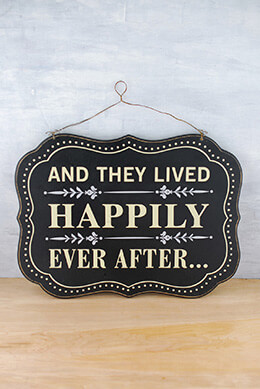 Happily Ever After Sign 16 x 12