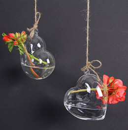 Hanging Heart Shaped Vase (Set of 6)