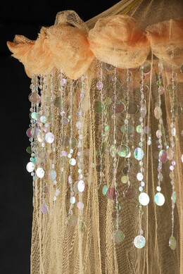 Heavenly Peach Bed Canopy Net