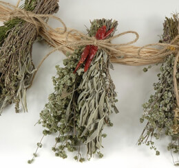 Herb Braids (3 field bunches) Organically Grown Air Dried