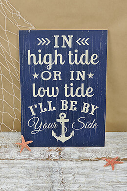 High & Low Tide Sign 13.5x19in