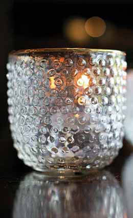 "Mady Hobnail Antique Glass Votive Holder 4""x 3.5"""
