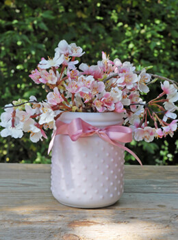 Hobnail Jar Lilac 4 x 5in