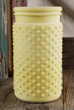 Hobnail Vase Yellow