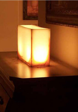 Hand Crafted Wax Luminary Ivory 15 x12