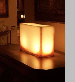 "Hollow Wax Candle Display Ivory with Rust Accent 15"" x 12"" Reusable"