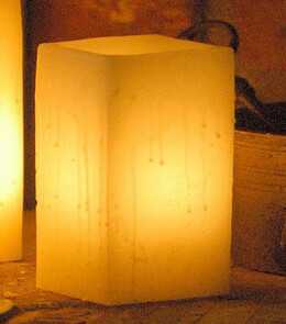 Hollow Candle Wax Luminary Ivory 7�