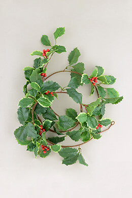 Holly Berry Garland 6ft