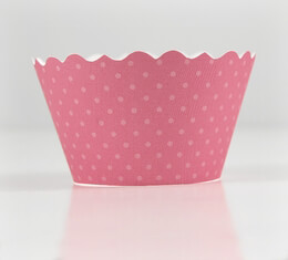 Honeysuckle Pink Cupcake Wrappers -50 Wraps