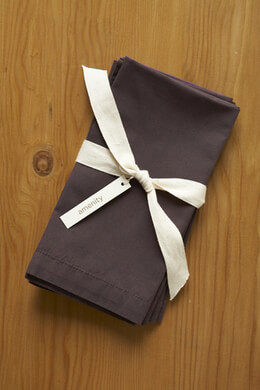 Amenity Organic Cocoa Brown Cotton 300 count Napkins (4 napkins)
