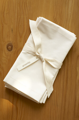 <font color=&quot;red&quot;><b>HOT BUY!</b></font> Amenity Organic Cream Cotton 300 count Napkins (4 napkins)