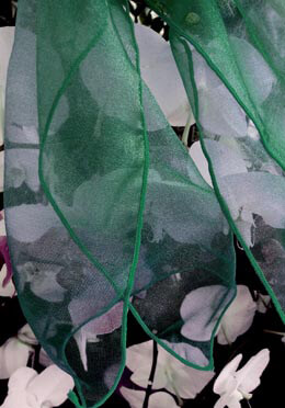 """Hunter Green Organza Chair Sashes 9"""" Wide  (Pack of 10)"""