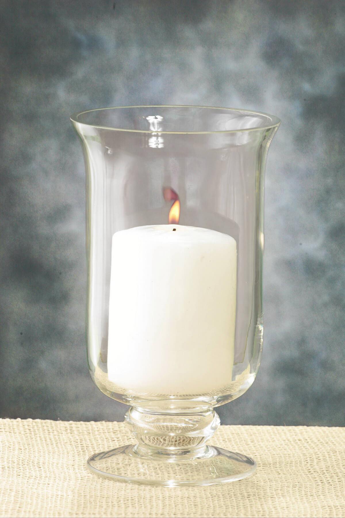 8in Hurricane Vase & Candle Holder