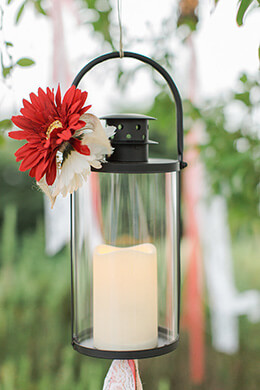Hanging Black Hurricane Lantern 10.5in