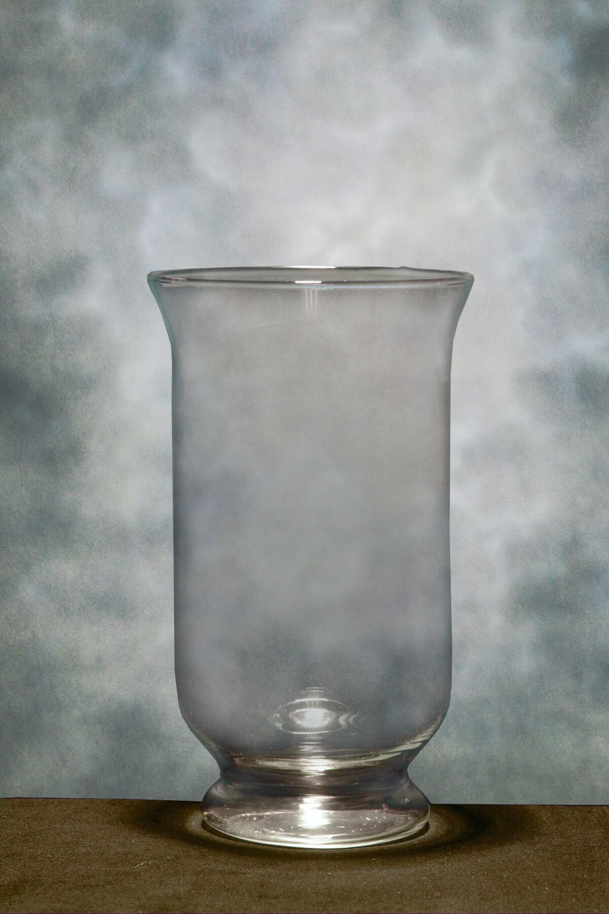 12in Glass Hurricane Vases