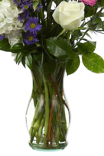 Florist Clear Glass Vases 7""