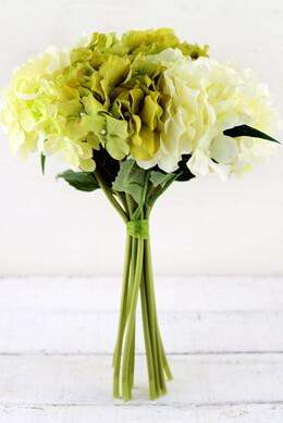 Cream & Green Hydrangea Bouquet