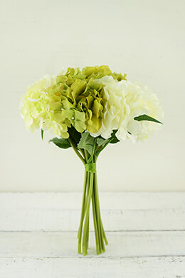 Hydrangea Bouquet Cream 12in