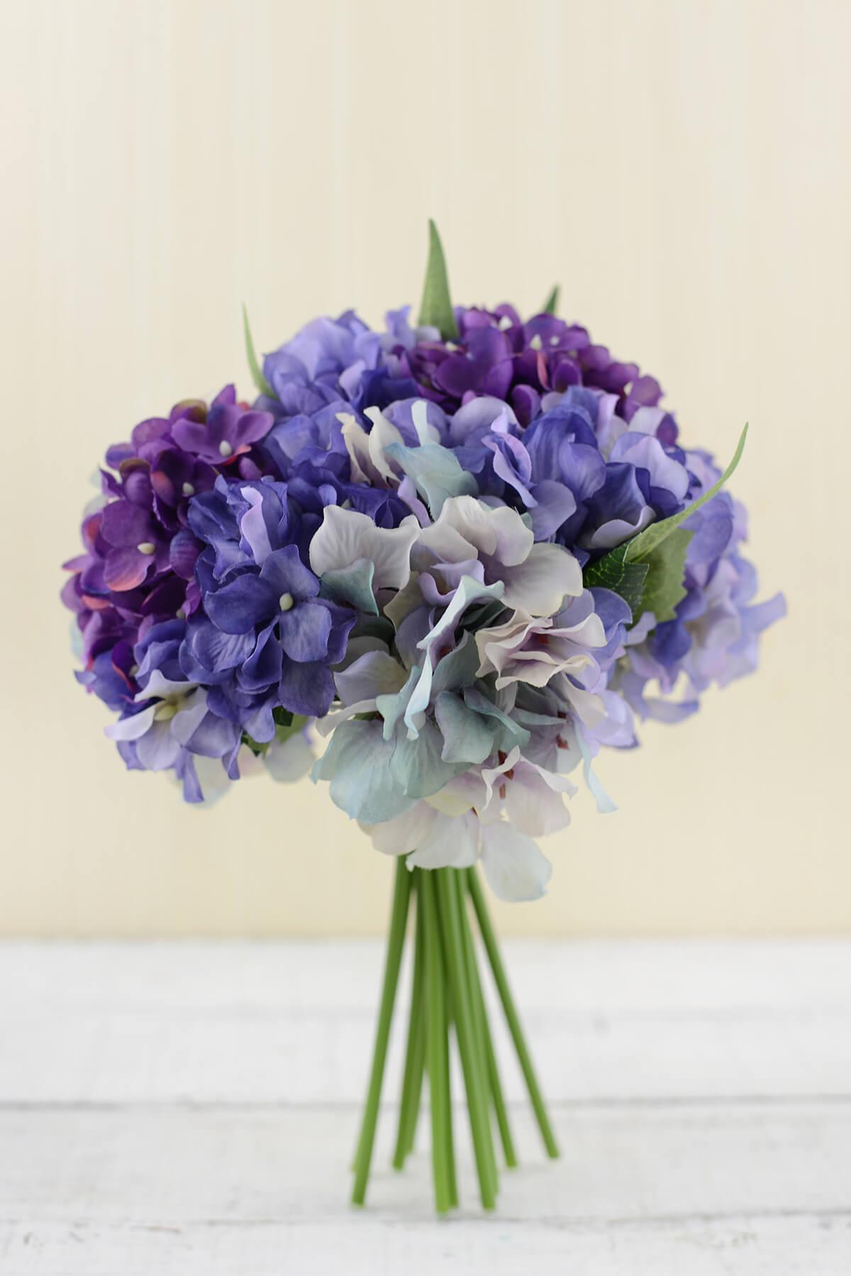 Hydrangea bouquet purple in