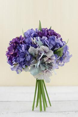 Hydrangea Bouquet Purple 9.5in