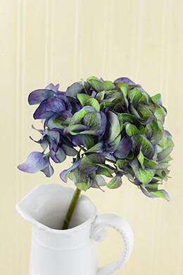 Hydrangea Flower Purple 18.5in