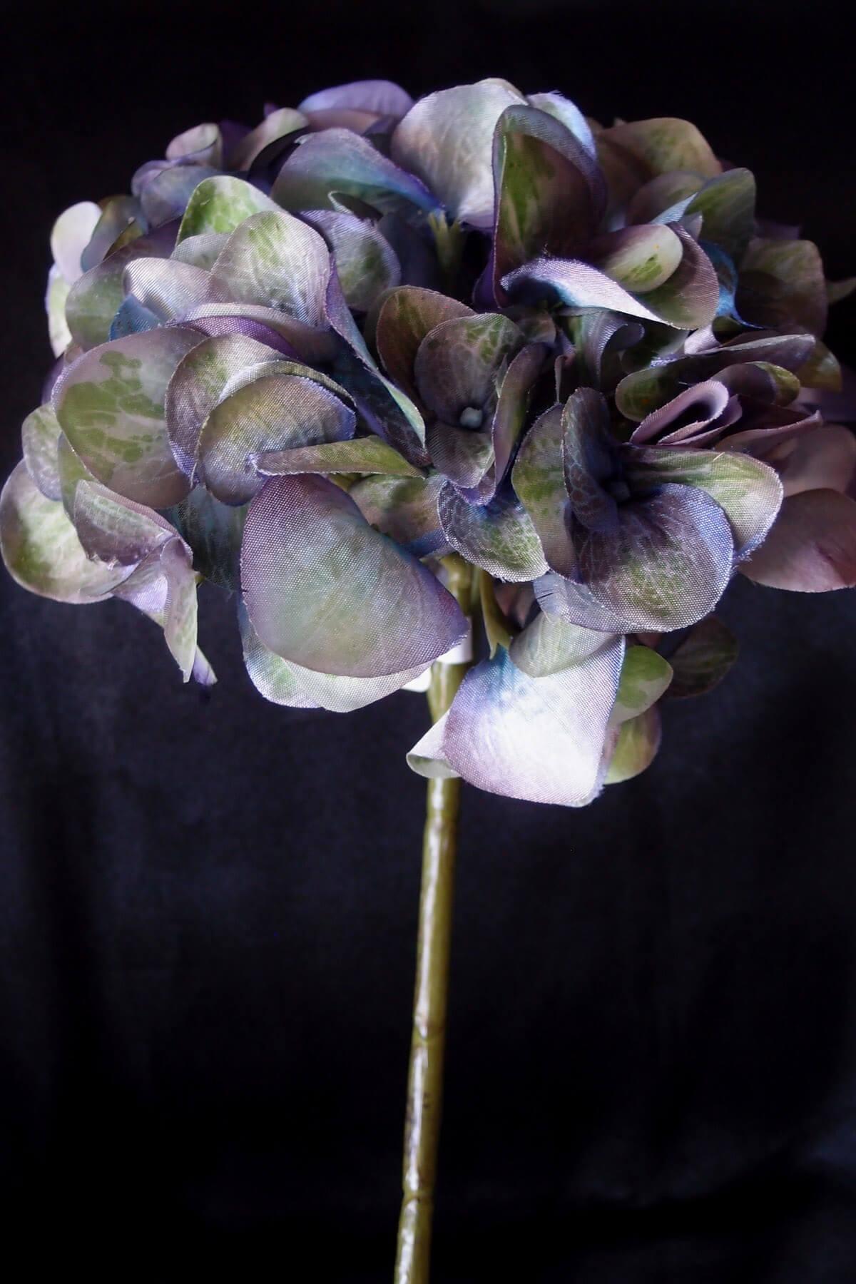 Purple & Green Silk Hydrangeas
