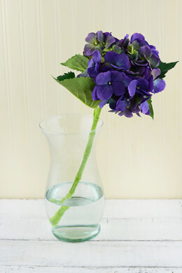 Hydrangea Flower Purple 19in
